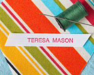 Sew on Clothing Label - 1 Line Layout, Style 12