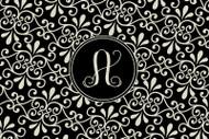 Black and Khaki Swirl Cutting Board