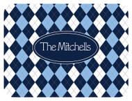 Blue Argyle Custom Designer Cutting Boards