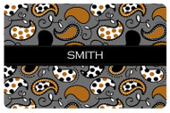 Brown and Grey Paisley Custom Designer Cutting Boards