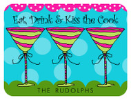 Eat, Drink and Kiss the Cook Custom Designer Cutting Boards