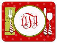 Holiday Dinner Monogrammed Custom Designer Cutting Boards