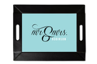 Mr and Mrs Custom Folding Tray with Coasters
