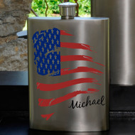 Guys Party Flasks with Name