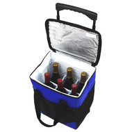 32 Can Collapsible Rolling Cooler w/6 wine bottle divider