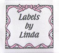 Ribbon & Bows (Pink) Fabric Clothing Labels