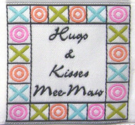 Sign Your Work Forever with Hugs & Kisses Fabric Clothing Labels