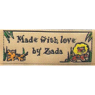 Brown Lions and Tigers and Bears! Oh my! Fabric Clothing Labels