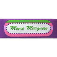 Movie Marquise Fabric Clothing Labels