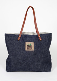 The Janice Indigo Hemp Denim & Organic Cotton Ticking Tot