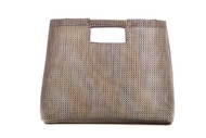 The Wolfgang Big, Ever Clean, Mesh Tote in Waterproof Silver Metallic