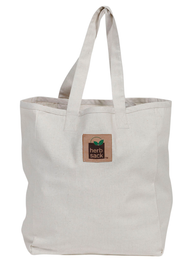 The Drew Hemp Blend Recycled Tote in Natural - Pack of 3
