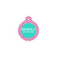 Personalized Hot Pink Chevron Circle Pet Tag