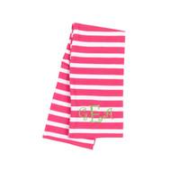 Monogrammed Kids Hot Pink Stripe Infinity Scarf