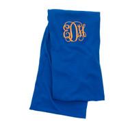 Monogrammed Royal Blue Infinity Scarf