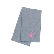 Chambray Monogrammed Scarf