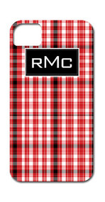Hard Case Phone Cover - Red and Black Plaid