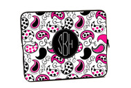 Pink and Black Paisley iPad and Laptop Cases