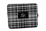 Black Plaid iPad and Laptop Sleeves