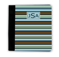 Brown, Blue, and Gold Stripes iPad Jackets