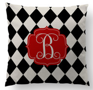 Black and Khaki Diamonds Custom Designer Pillows