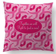A Cure for Breast Cancer Custom Designer Pillows
