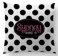 Black and White Polka Dots Custom Designer Pillows