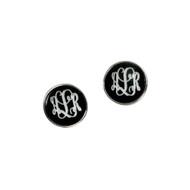 Black Josie Earrings - Silver