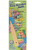 "882700 EZ Quilting Tools Easy Dresden Quilt Tool Set  8"" Dresden Quilt Tool Set. Easy for beginners and experienced quilters. Includes quilting template, pointer creaser and quilt pattern."