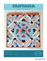 Fantasia Block  Make projects from mini quilts to bed sized quilts from one block.   Fabric shown in this sample is Fantasia by Sara Lawson for Art Gallery Fabrics.