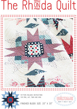The Rhonda Quilt pattern has 4 sizes - crib, lap, twin and king.