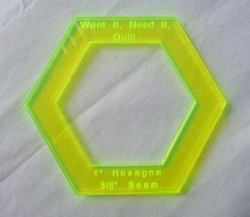 "1"" Hexagon Template"