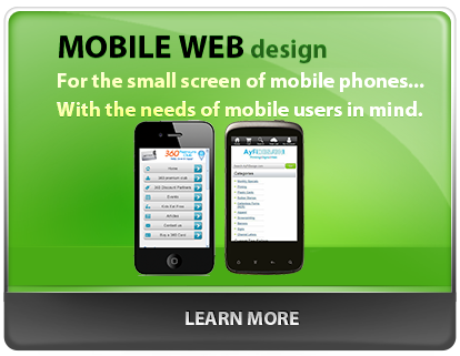 AyFi Design Agency Mobile Web Design