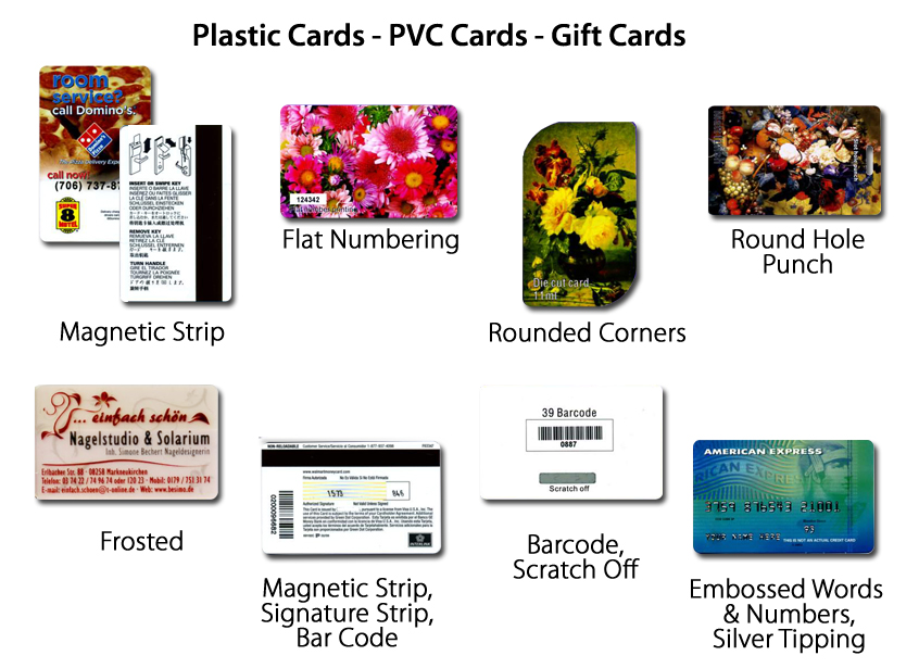 Plastic Cards PVC Cards Gift Cards