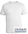 Cotton® White T-Shirt with 3-Color Screen Printing, Front & Back