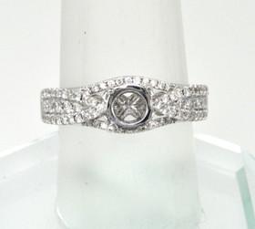 14K White Gold 0.65 ct Diamond Engagement Ring Setting