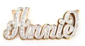 "14K Two Tone Gold ""Annie"" 2.40ctw Diamond Name Plate 33300052"