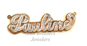 "14K Yellow Gold ""Pauline"" Diamond Name Plate with 16"" Yellow Gold Chain 33300012/ROY012"