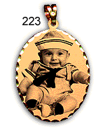 14K Yellow Gold Picture Pendant 200 Series # 223