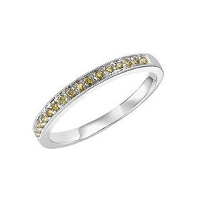 14K White Gold Yellow Diamond Stackable Ring 11003758