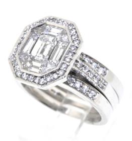 11003795 14K White Gold Diamond Engagement Ring Sets