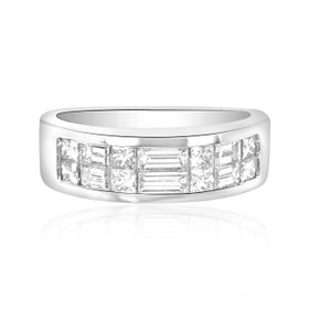 Platinum 1.31ctw  Diamond Wedding Band  11001207
