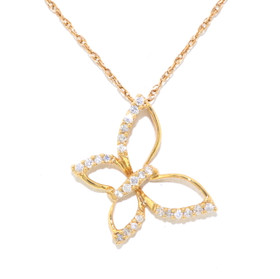 14K Yellow Gold Diamond Butterfly Slide 51001601
