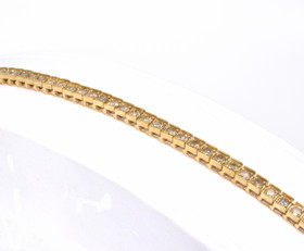 21000344 14K Yellow Gold Diamond Tennis Bracelet