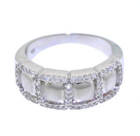 14K White Gold Diamond Wedding Band 11003822