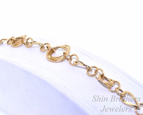 14K Yellow Gold Fancy Link Bracelet 20001228