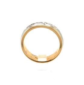 14K Two Tone Gold 0.48ctw Diamond Wedding Band 11000839
