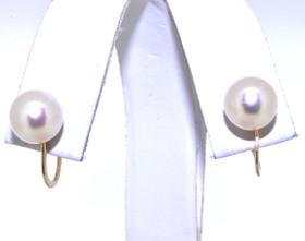 14K Yellow Gold Pearl Non-Pierce Earrings 42002210