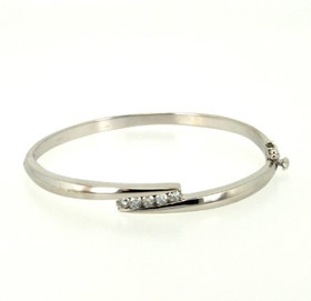 14K White Gold 0.50ct Diamond Bangle 21000428