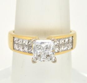 18K Yellow Gold Diamond Setting With CZ 11002022
